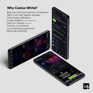 Caelus White Icon Pack - White Linear Icons Ekran Görüntüsü 1