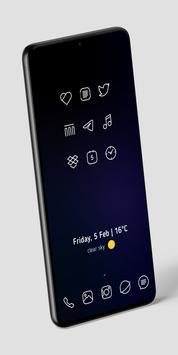 Caelus White Icon Pack - White Linear Icons Ekran Görüntüsü 2
