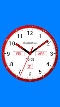 Color Analog Clock-7 poster