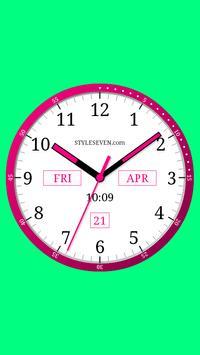 Color Analog Clock-7 screenshot 2