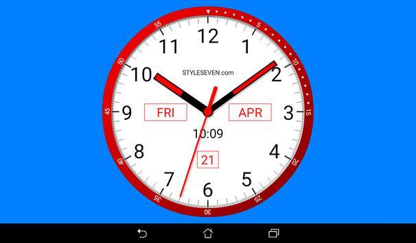 Color Analog Clock-7 screenshot 5