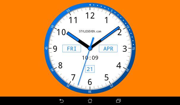 Color Analog Clock-7 screenshot 6