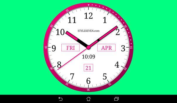 Color Analog Clock-7 screenshot 8