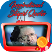 Stephen hawking Inspirational and stupid quotes icon