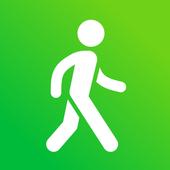 Seguimiento de pasos - Podómetro gratis icono