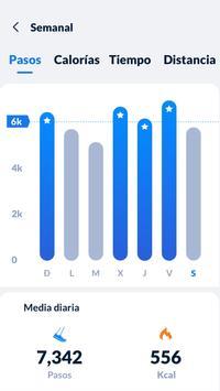 Seguimiento de pasos - Podómetro gratis captura de pantalla 2