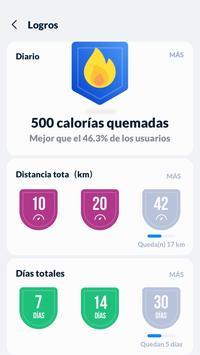 Seguimiento de pasos - Podómetro gratis captura de pantalla 3