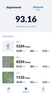 Seguimiento de pasos - Podómetro gratis captura de pantalla 4