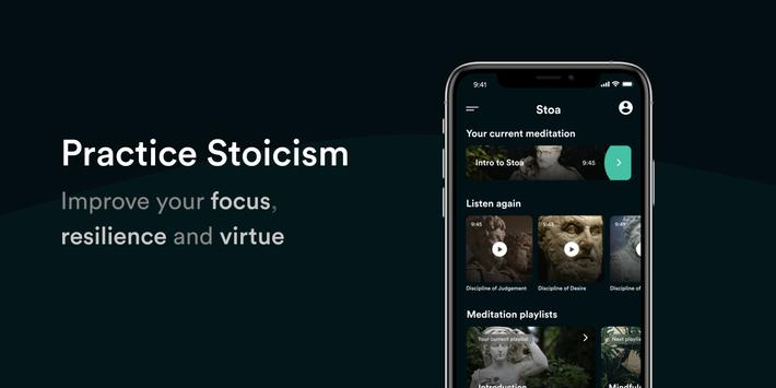 Stoa: Stoic Meditation, Diary & Philosophy Quotes الملصق