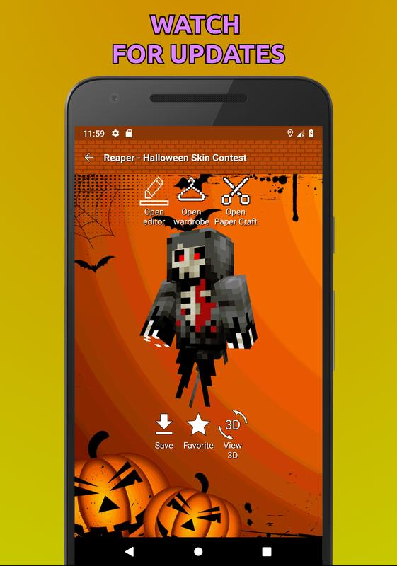 halloween skins for minecraft pe