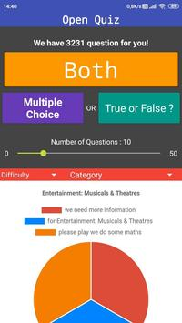 Open Quiz : Free Travia Game Multiple Choice & T/F poster