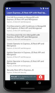 Learn Express JS Rest API with Real Apps for Android - APK