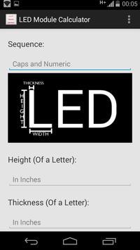LED Module Calculator screenshot 1