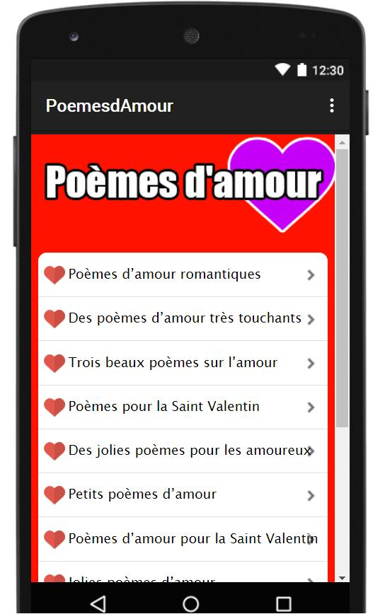 Poemes Damour 2019 For Android Apk Download