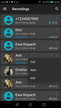 Grabador de Llamadas captura de pantalla 3