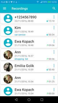 Grabador de Llamadas captura de pantalla 1