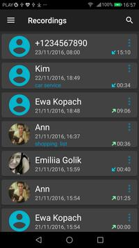 Grabador de Llamadas captura de pantalla 2