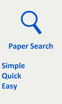 Paper Search poster