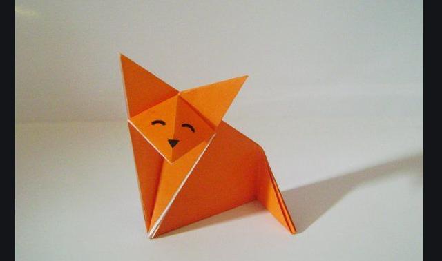 White crane bird 3D origami illustration, craft origami paper art ... | 378x640