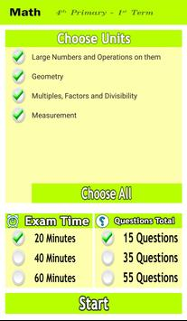 Math Revision Fourth Primary T1 screenshot 4