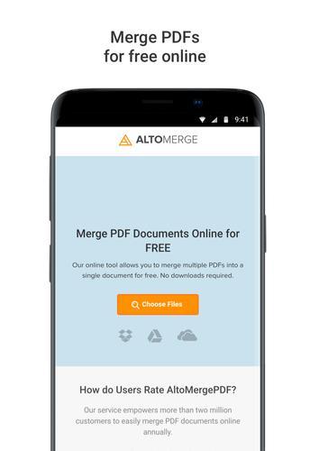 Alto Merge PDF: Combine files into a single PDF for Android - APK