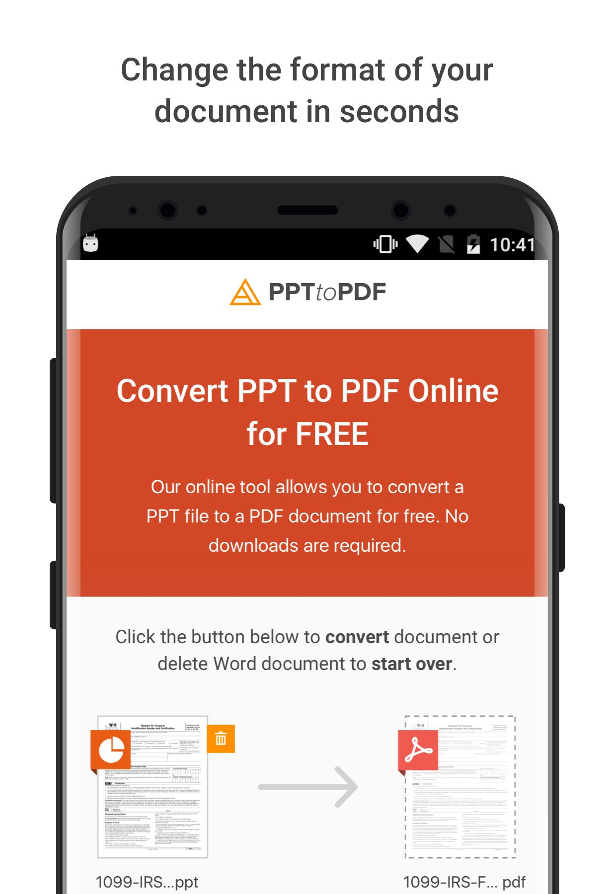 Alto PPT to PDF converter for Android - APK Download