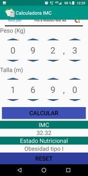 Calculadora IMC screenshot 1