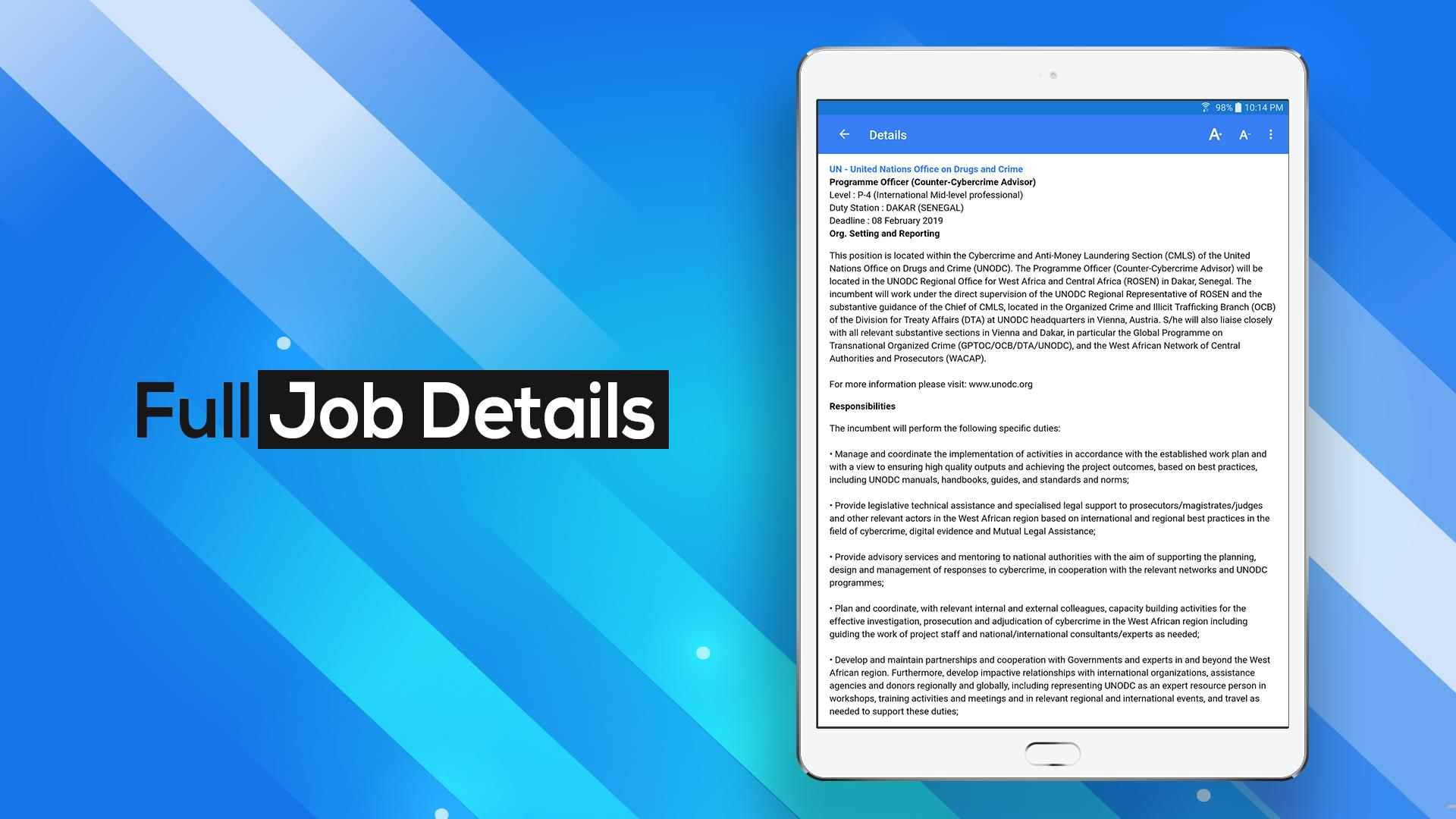 UN & NGO Jobs for Android - APK Download