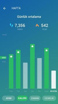 Adım Sayar - Ücretsiz Pedometre ve Kalori Sayacı Ekran Görüntüsü 1