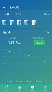 Adım Sayar - Ücretsiz Pedometre ve Kalori Sayacı Ekran Görüntüsü 2