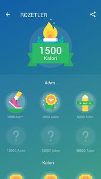Adım Sayar - Ücretsiz Pedometre ve Kalori Sayacı Ekran Görüntüsü 3