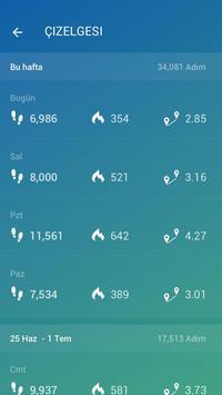 Adım Sayar - Ücretsiz Pedometre ve Kalori Sayacı Ekran Görüntüsü 4