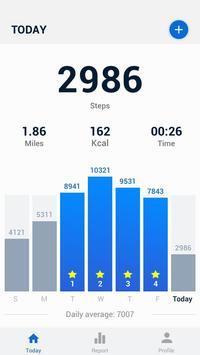 Pedometer - Hitung Langkah Gratis & Bakar Kalori poster