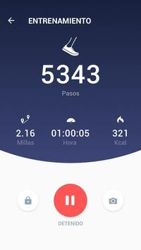 Podómetro - Contador de Calorías y Pasos Gratis captura de pantalla 2