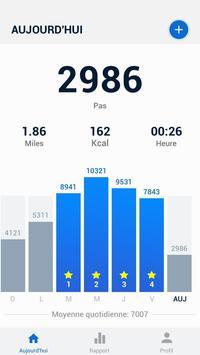 Podomètre - compteur de pas et de calories gratuit Affiche