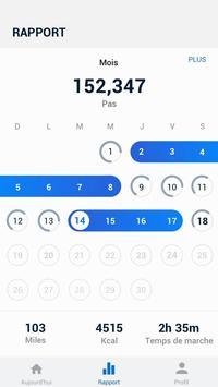 Podomètre - compteur de pas et de calories gratuit capture d'écran 1