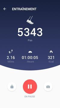 Podomètre - compteur de pas et de calories gratuit capture d'écran 2
