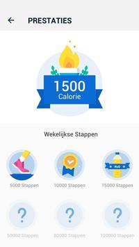 Stappenteller - gratis stappen- en calorieënteller screenshot 3