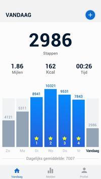 Stappenteller - gratis stappen- en calorieënteller-poster
