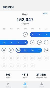 Stappenteller - gratis stappen- en calorieënteller screenshot 1