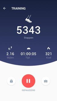 Stappenteller - gratis stappen- en calorieënteller screenshot 2