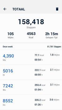 Stappenteller - gratis stappen- en calorieënteller screenshot 4