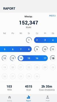 Krokomierz - bezpłatne liczenie kroków i kalorii screenshot 1