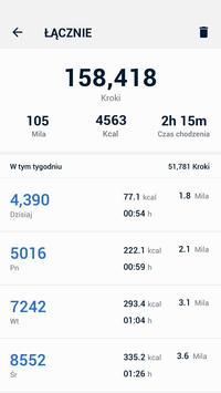 Krokomierz - bezpłatne liczenie kroków i kalorii screenshot 4