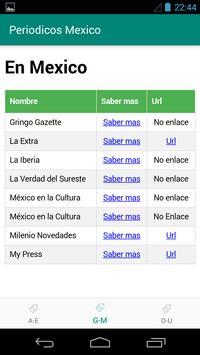 Periodicos de Mexico screenshot 1