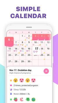 Period Tracker, Ovulation Calendar & Fertility app screenshot 2
