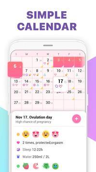 Period Tracker, Ovulation Calendar & Fertility app screenshot 2