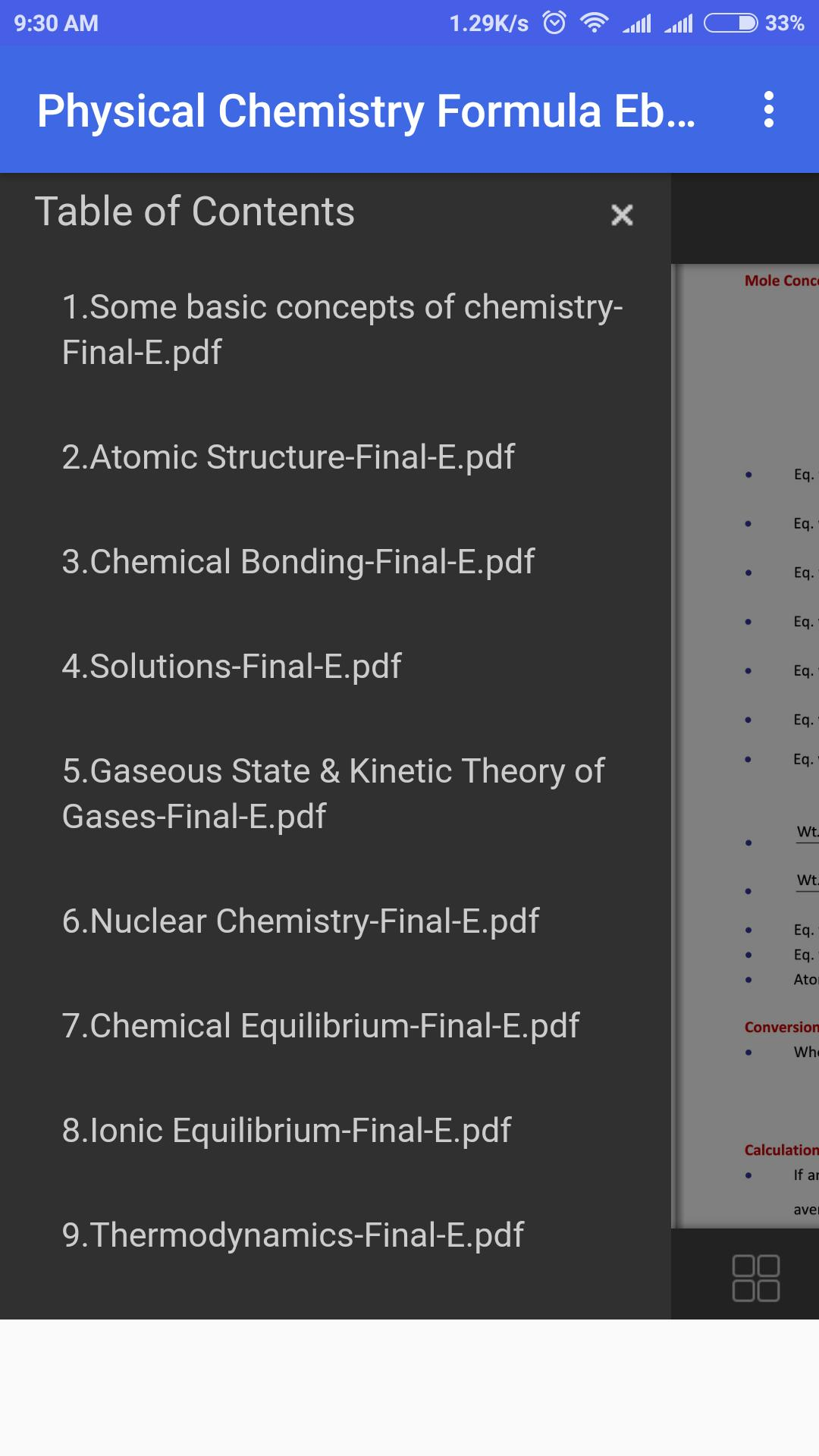 Physical Chemistry Formula Ebook Updated 2018 for Android