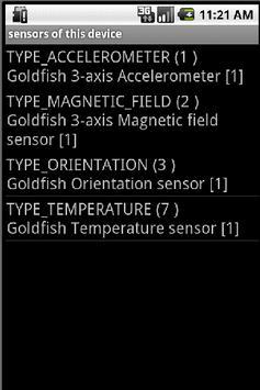 Sensor Tool screenshot 1