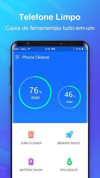 Telefone Limpo - limpeza de cache, acelerador Cartaz